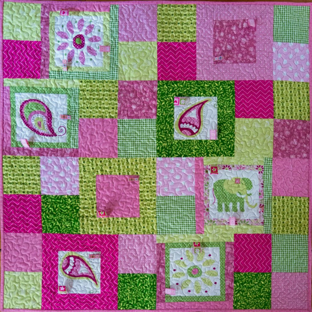 Charity Baby Quilt With Taggies The Potting Shed Quilter